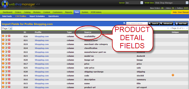 Customized Product Exports with Detailed Product Fields