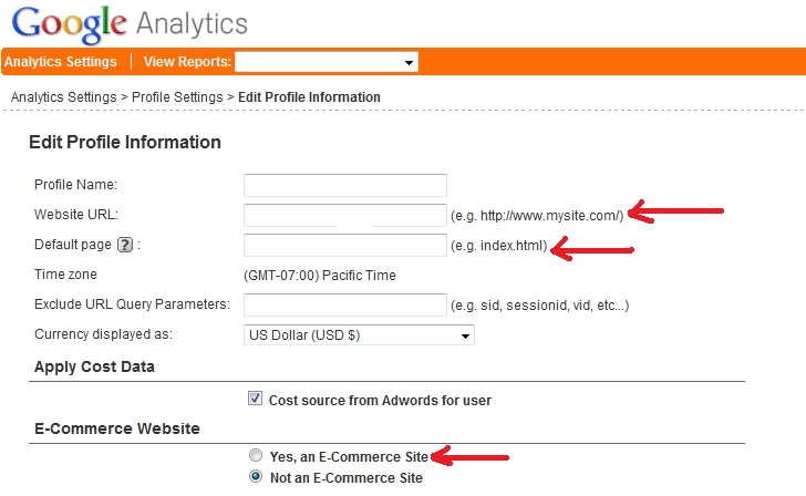 Google Analytics Profile