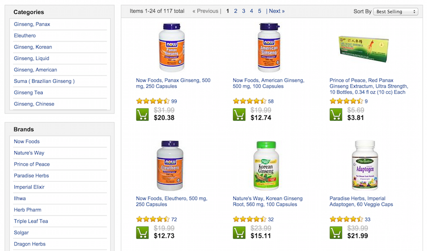 Iherb using sale price to increase e-commerce conversion rates