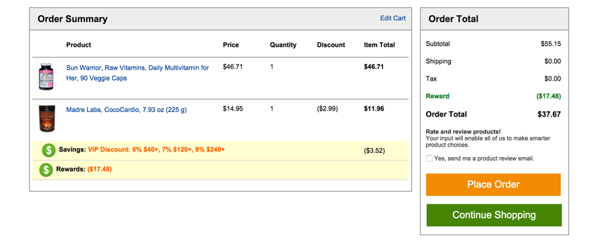 Displaying images in the checkout is good for ecommerce optimization