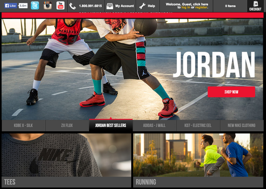 foot locker home page