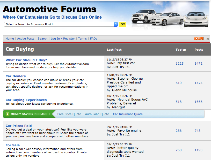 Automotive eCommerce Niche Ideas