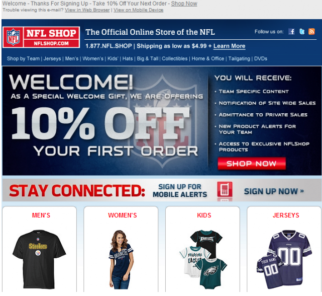 Email Marketing - NFL