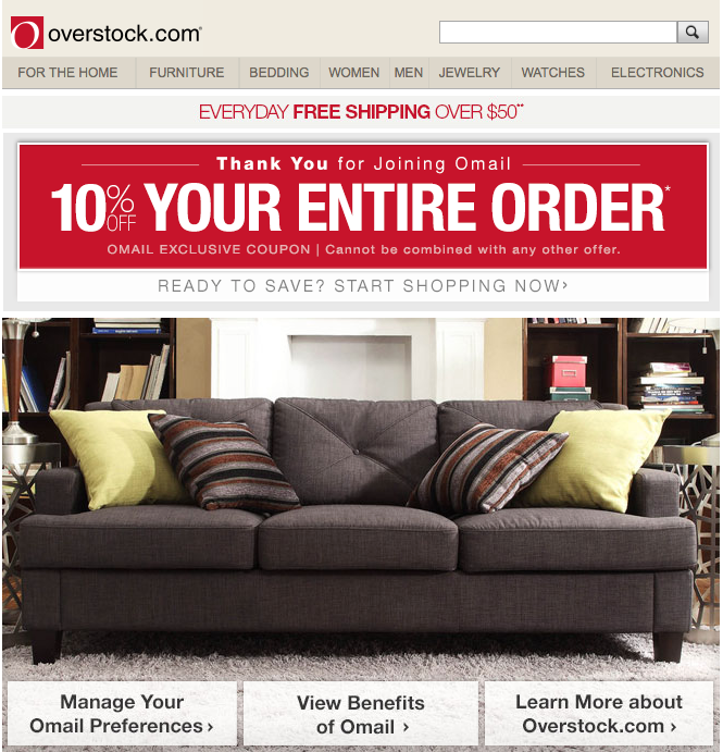 Overstock Images for Emails