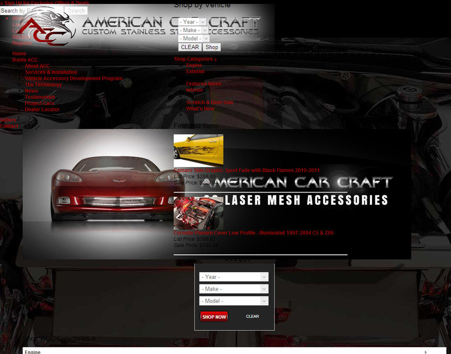 american car craft before screenshot