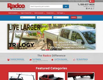 Portfolio - Beautiful Web Design Examples | Web Shop Manager - Radco Truck Accessory Center
