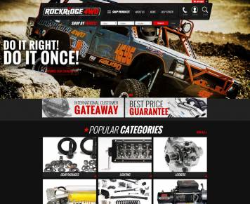 Portfolio - Beautiful Web Design Examples | Web Shop Manager - Rockridge 4WD