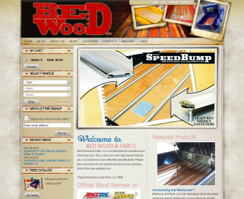 Portfolio - Beautiful Web Design Examples | Web Shop Manager - Bed Wood and Parts
