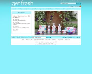 Portfolio - Beautiful Web Design Examples | Web Shop Manager - get fresh - Bath, Body, Skin Care & Spa