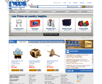 Portfolio - Beautiful Web Design Examples | Web Shop Manager - PWS - Laundry