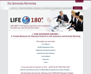 Portfolio - Beautiful Web Design Examples | Web Shop Manager - Fee Advisors Network