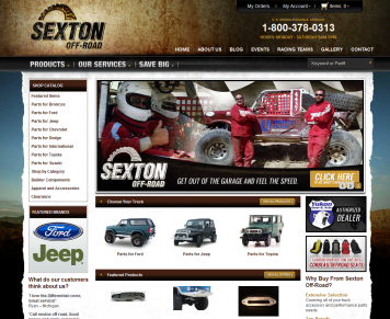 Portfolio - Beautiful Web Design Examples | Web Shop Manager - Sexton Off Road