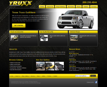 Portfolio - Beautiful Web Design Examples | Web Shop Manager - Texas Truxx Outfitters