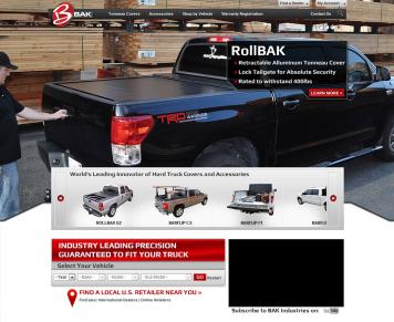 Portfolio - Beautiful Web Design Examples | Web Shop Manager - BAK Industries