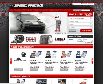 Portfolio - Beautiful Web Design Examples | Web Shop Manager - Speed Freaks