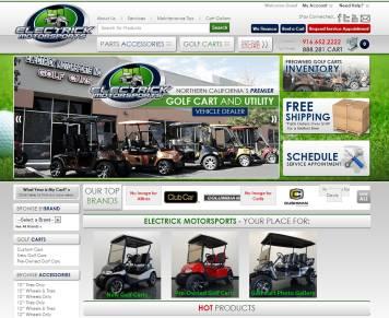 Portfolio - Beautiful Web Design Examples | Web Shop Manager - Electrick Motorsports