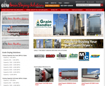 Portfolio - Beautiful Web Design Examples | Web Shop Manager - Grain Drying Solutions