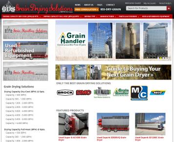Portfolio - Beautiful Web Design Examples | Web Shop Manager - Grain Drying Solutions